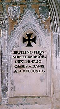 The inscription commemorating Brithnoth